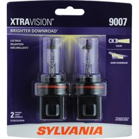 SYLVANIA 9007 XtraVision Halogen Headlight Bulb, Pack of 2