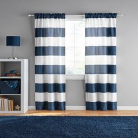 Your Zone Cabana Stripe Curtain Panel, Set of 2