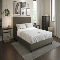 Mainstays Upholstered Platform Bed, Multiple Sizes and Colors
