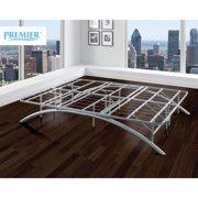 Premier Ellipse Arch Platform Bed Frame, Brushed Silver
