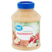 Great Value Applesauce, Unsweetened, 46 oz