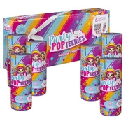 Party Popteenies – Party Pack – 6 Surprise Popper Bundle with Confetti, Collectible Mini Dolls and Accessories, for Ages 4 and Up (Styles Vary)