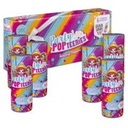 Party Popteenies Pack 6 Surprise Popper Bundle With Confetti Collectible Mini Dolls