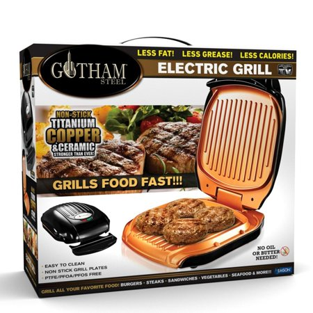 Gotham Steel Low Fat Multipurpose Grill with Nonstick Copper Coating – As Seen on TV