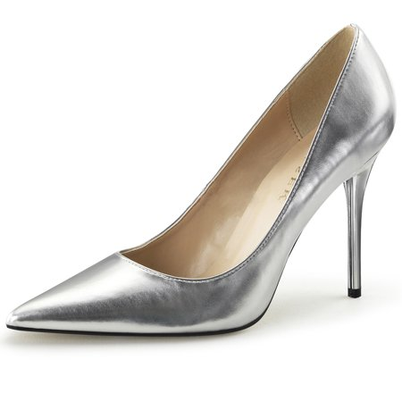 Womens Pointed Toe Shoes High Heel Pumps Classic Stilettos 4 Inch (4 Inch Heel Mule)