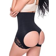 aeead6b446a Women s High Waist Butt Lifter Shapewear Hollow Out Lifter Panty Ultra Firm  Control Tummy Slimming Body