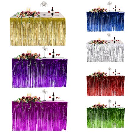 Fringed Table Skirt Celebration Thickened Table Curtain Holiday Supplies Party Decoration - Table Fringe Skirt