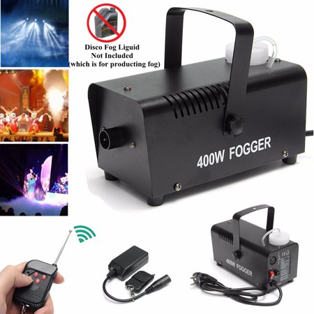 400W Portable Led Fog Machine with Wireless Remote Control Smoke Machine for Halloween Weddings Christmas Parties Dance/Drama Stage Effect - Smoke Mechine