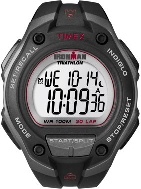 Men's Ironman Classic 30 Oversized Black/Gray/Red Watch, Resin Strap