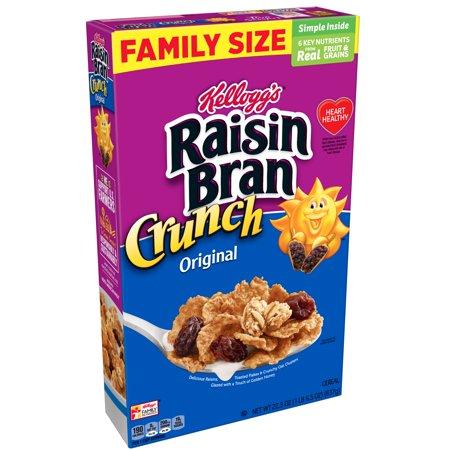 Kellogg's Raisin Bran Crunch Breakfast Cereal 22.5oz Box