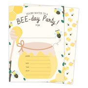 Kids Party Product Image Bumble Bee 2 Happy Birthday Invitations Invite Cards 25 Count With Envelopes Seal