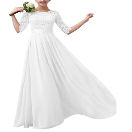 Long Formal Dresses Women Lace Maxi Evening Cocktail Party Ball Gown Prom 1/2 Sleeve Pageant Wedding Bridesmaid Dress (Bridesmaid Dress Prom Gown)