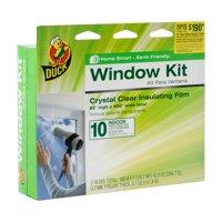 "Duck Indoor Window Insulation Kit, Insulates 10 Windows, 62"" x 420"" Film"