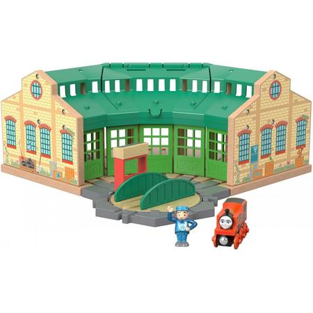 - Thomas & Friends Wood Tidmouth Sheds Set with Nia Tank Engine & Figure
