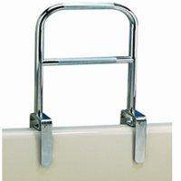 Carex Dual Level Bath tub Safety Grab Bar Rail with Chrome Finish