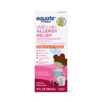Equate Children's Allergy Relief Diphenhydramine, Cherry, 4 FL OZ