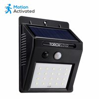 TORCHSTAR 20 LED 320LM Outdoor Solar Powered Motion Sensor Lights, Wireless Weatherproof Security Light, Black