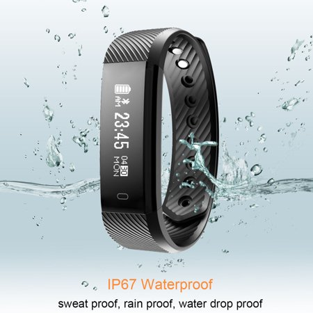 Fitness Tracker watch, Diggro ID115 Smart Bracelet Activity Tracker with Pedometer Calorie Sleep Monitor Call/SMS Reminder Sedentary Reminder Without Heart Rate for Android
