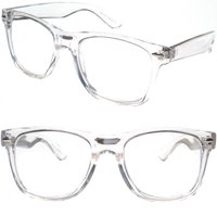 2 Pairs Transparent Neon Color Deluxe Reading Glasses - Comfortable Stylish Simple Readers Rx Magnification