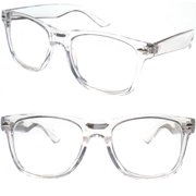a03787d36e1 2 Pairs Transparent Neon Color Deluxe Reading Glasses - Comfortable Stylish  Simple Readers Rx Magnification