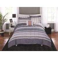 Mainstays Variegated Stripe Bed in a Bag Coordinating Bedding Set