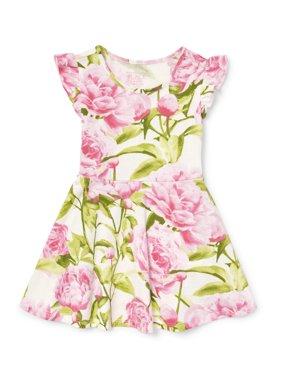 Rose Print Knit Dress (Baby Girls & Toddler Girls)