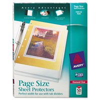 Avery Diamond Clear Page Size Sheet Protectors, 50/pack (74203)