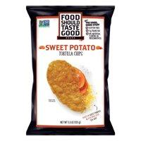 (2 Pack) Food Should Taste Good Sweet Potato Tortilla Chips, 5.5 oz