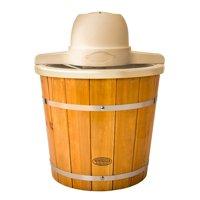 Nostalgia ICMP400WD 4-Quart Electric Wood Bucket Ice Cream Maker