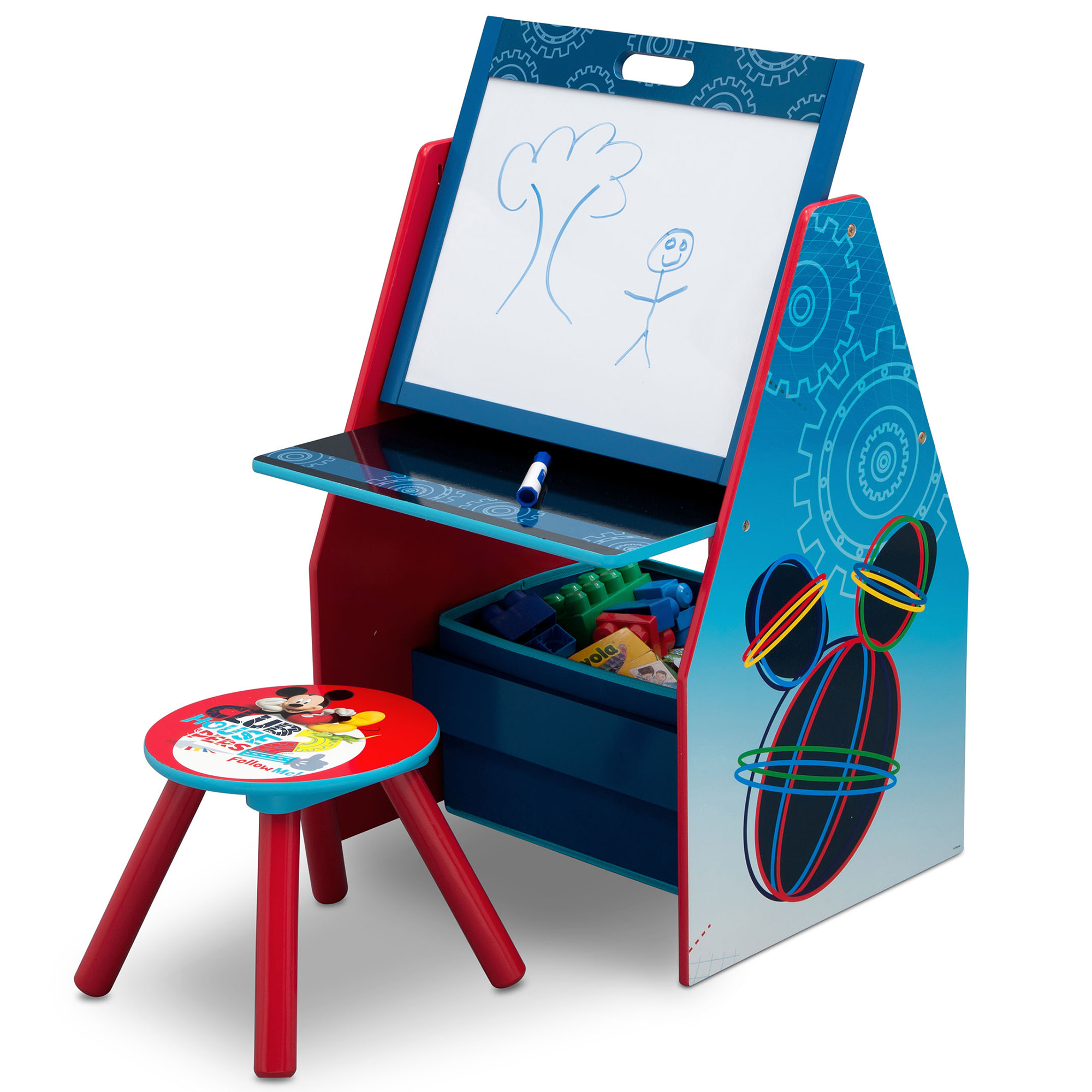 Disney Mickey Mouse Easel and Play Station by Delta Children