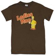 Simpsons Mens T-Shirt - Ladies Man Homer in His Underware on Brown db4e904b9