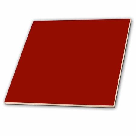 3dRose Burgundy red - dark marroon russet fire-brick dark-barn red-brown - plain simple solid color - Ceramic Tile, (Russet Color)