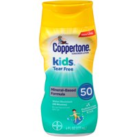 Coppertone Kids Sunscreen Tear Free Mineral Based Lotion SPF 50, 6 oz