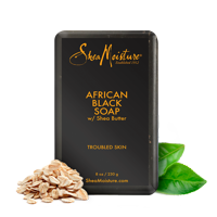 African Black Soap - Soothes and Refreshes Dry, Troubled Skin with Aloe and Organic Shea Butter - Sulfate-Free with Natural and Organic Ingredients - Hydrates Problem Skin (8 oz)