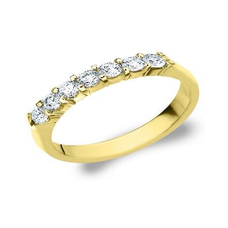 0.5 CTTW 7 Stone Yellow Gold Diamond Anniversary Ring, Diamond Wedding