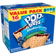 (2 Pack) Kellogg's Pop-Tarts Unfrosted Blueberry Toaster Pastries 16 ct 29.3 Oz