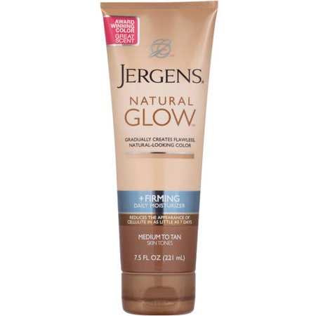 (3 pack) Jergens Natural Glow +Firming Daily Moisturizer Medium to Tan, 7.5 FL oz