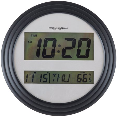 Mainstays Digital Wall Clock, Black ()