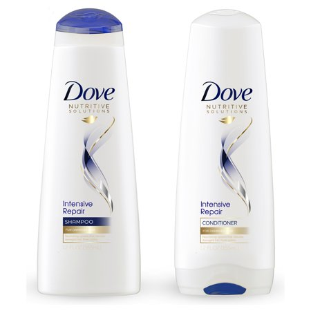 Dove Nutritive Solutions Intensive Repair Shampoo & Conditioner, 12 oz, 2 (Free Samples Shampoo Conditioner)