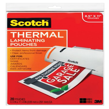 Thermal Laminating Pouches 20 Pack Letter Size Sheets