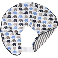 Bacati Blue and Grey Elephants Nursing Pillow Cover