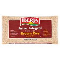 (2 Pack) Iberia Long Grain Brown Rice, 5 lb