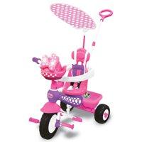 Kiddieland Minnie Mouse Push N' Ride 3-in-1 Trike + Sun Shade & Music | 048983
