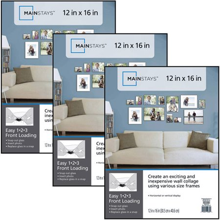 Mainstays 12x16 Format Picture Frame Set Of 3 Walmartcom