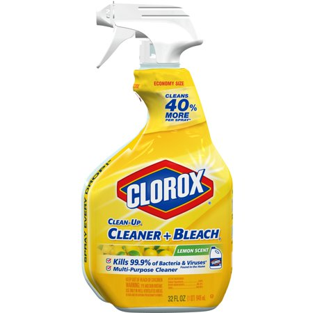 (2 pack) Clorox Clean-Up All Purpose Cleaner with Bleach, Spray Bottle, Lemon Scent, 32