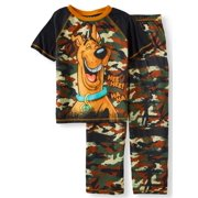 99dc0e8cc8 Boys  Scooby Doo Camo 2 Piece Pajama Sleep Set (Little Boy ...