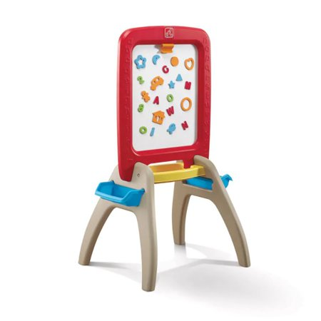 Step2 All Around Easel for Two, Red Chalk Dry Erase board 94pc set](Art Easel For Kids)
