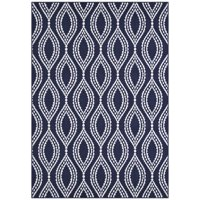 Mainstays Easton Cut Pile Print Dotted Ogee Area Rug or Runner, Multiple Sizes