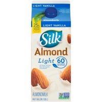 Silk Vanilla Light Almond Milk, 0.5 gal