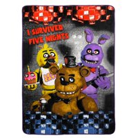Five Nights At Freddy's Furious Five Kids Bedding Plush Blanket